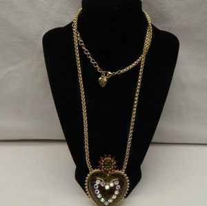 Betsey Johnson Heart Charm Necklace